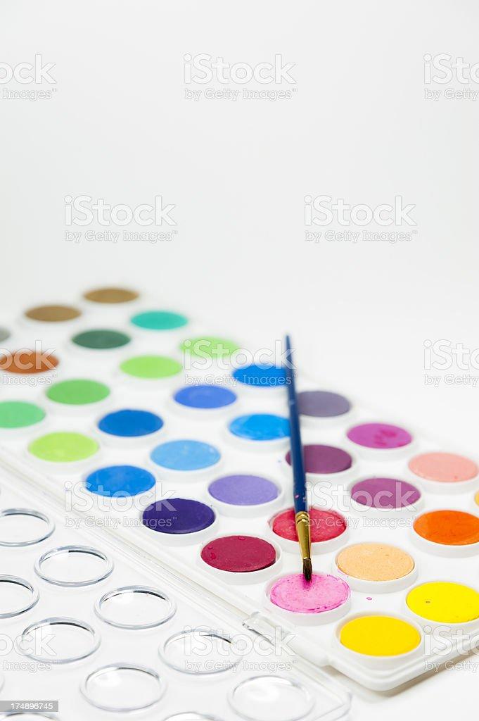 Watercolor Rainbow royalty-free stock photo