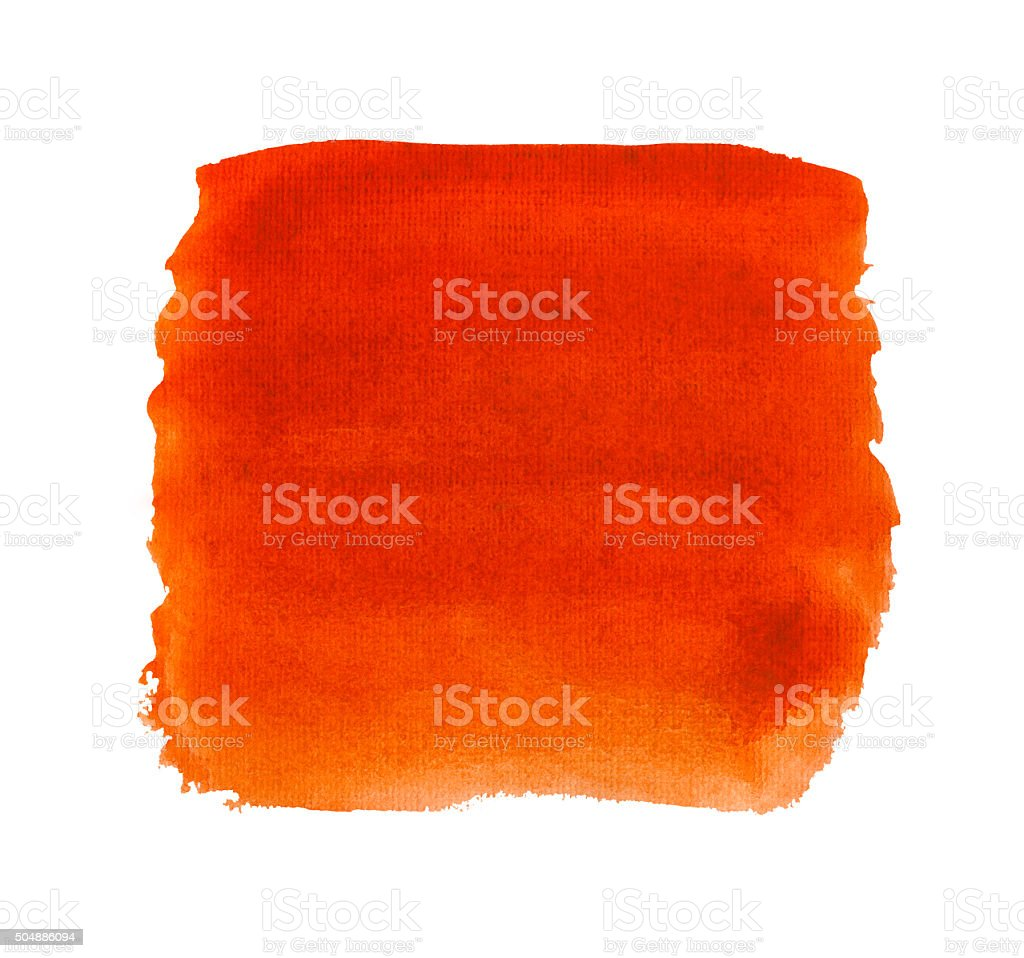 Watercolor red background isolated. stock photo