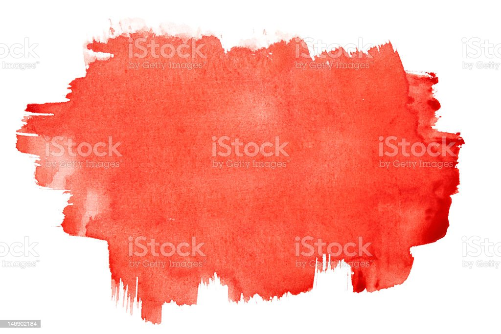 Watercolor red brush strokes over a white background royalty-free stock vector art