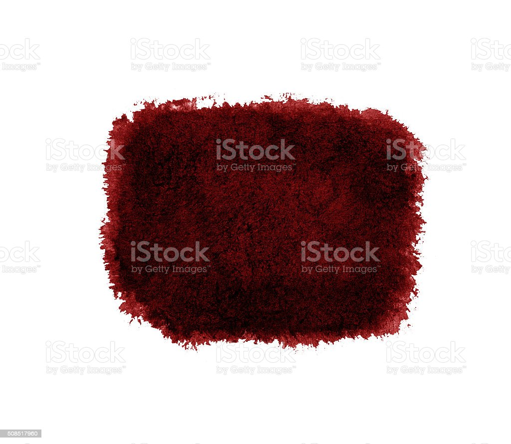 Watercolor red stroke isolated. stock photo