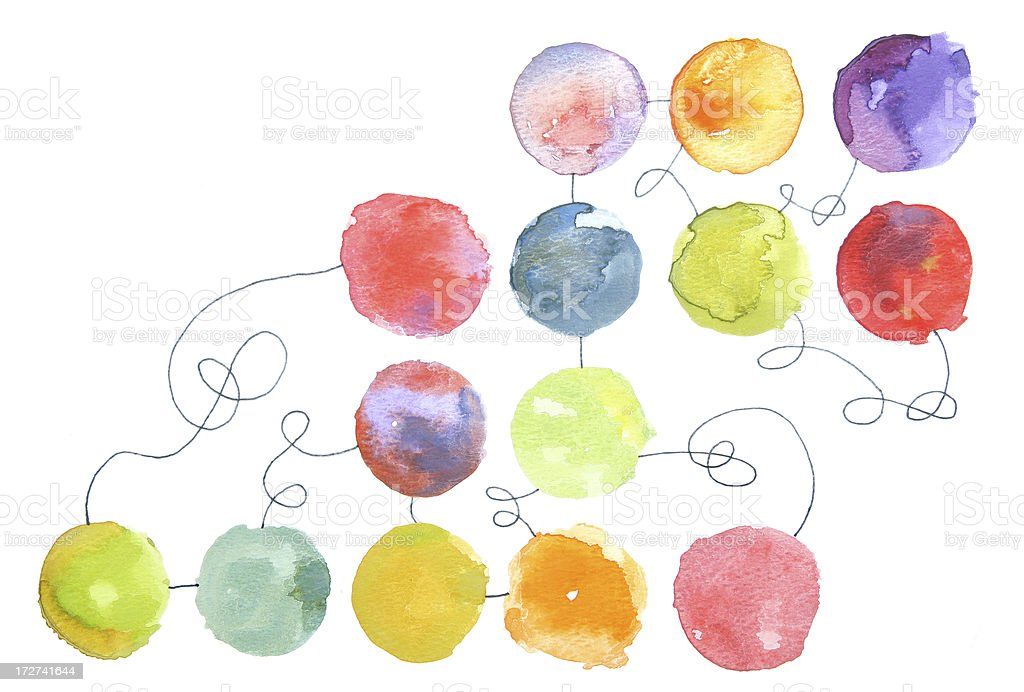 Watercolor Relationships stock photo