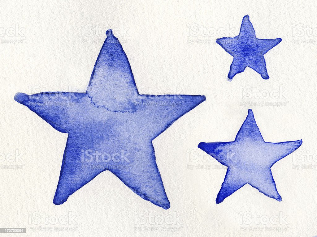 Watercolor star background, suitable for Christmas royalty-free stock photo