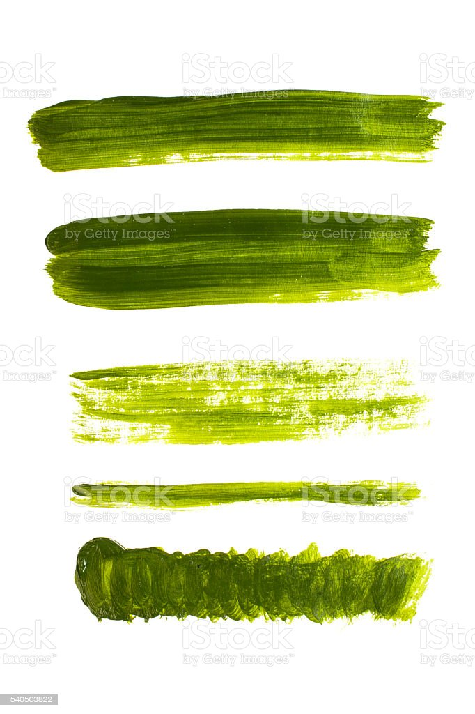 Watercolor stripe green stock photo