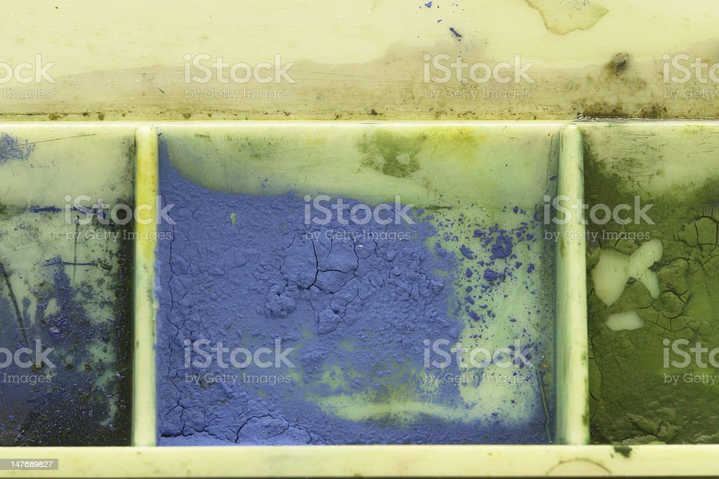 Watercolor Swatch from professional artists Palette royalty-free stock photo