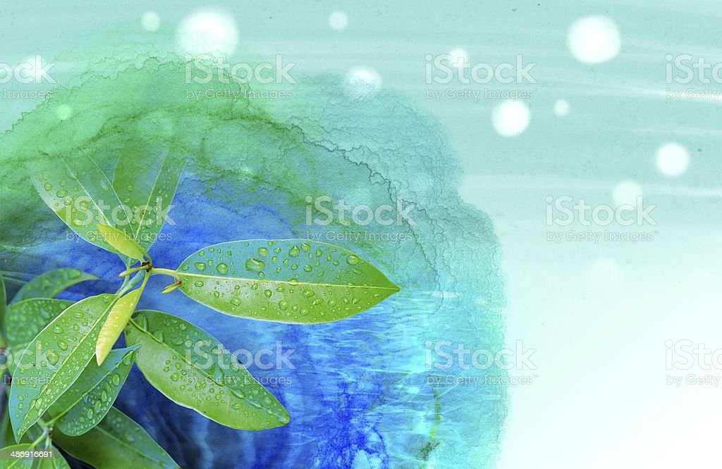 watercolor Tree royalty-free stock photo
