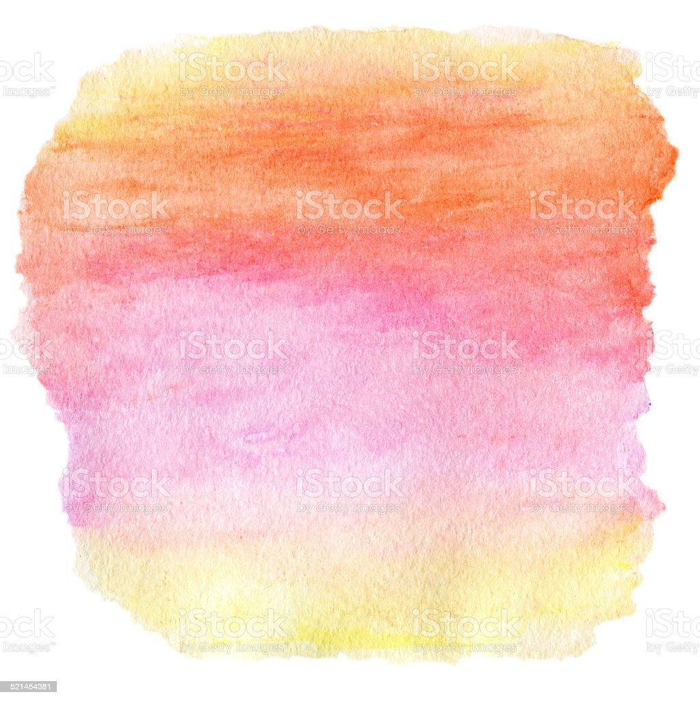 Watercolor Wet Background. Purple Pink Yellow Orange Wet Waterco stock photo