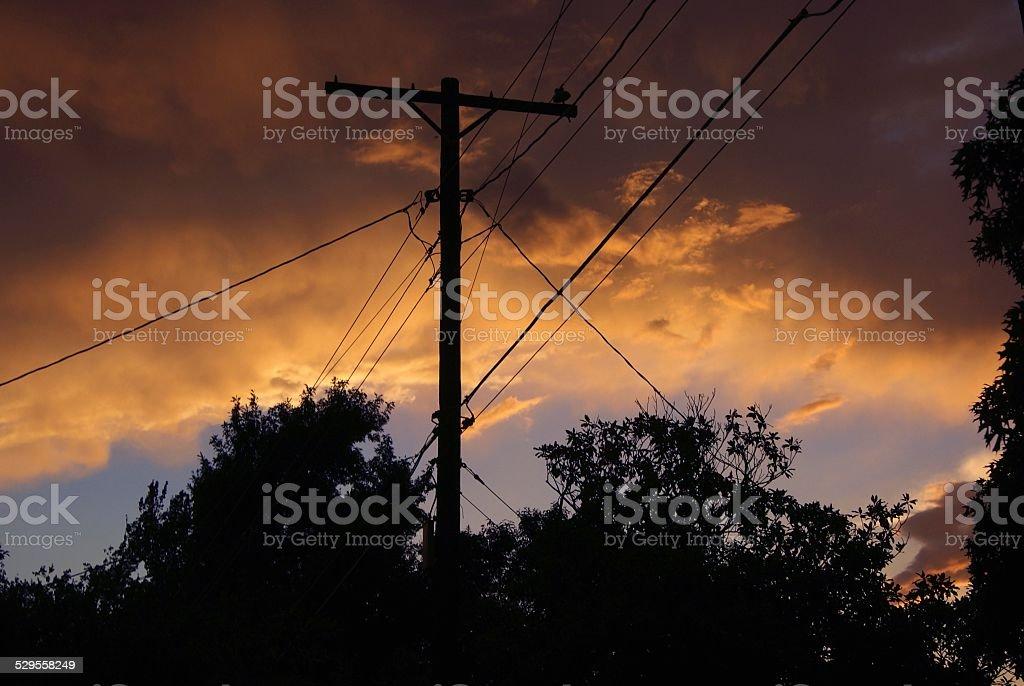 Watercolored Sunset royalty-free stock photo