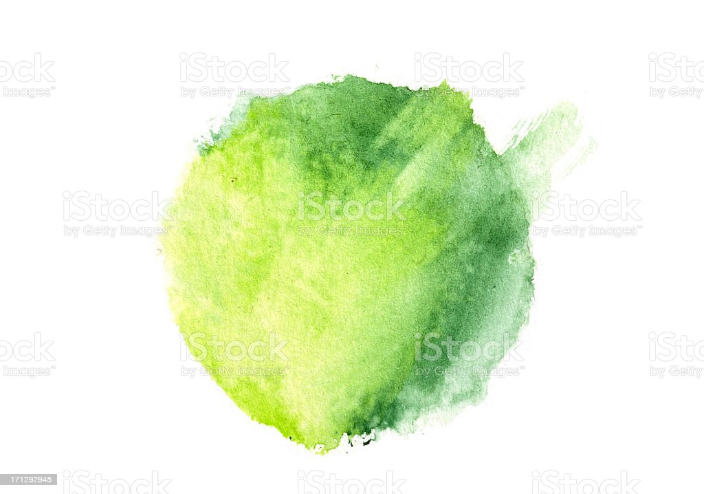 Watercolour Painted Circle royalty-free stock photo