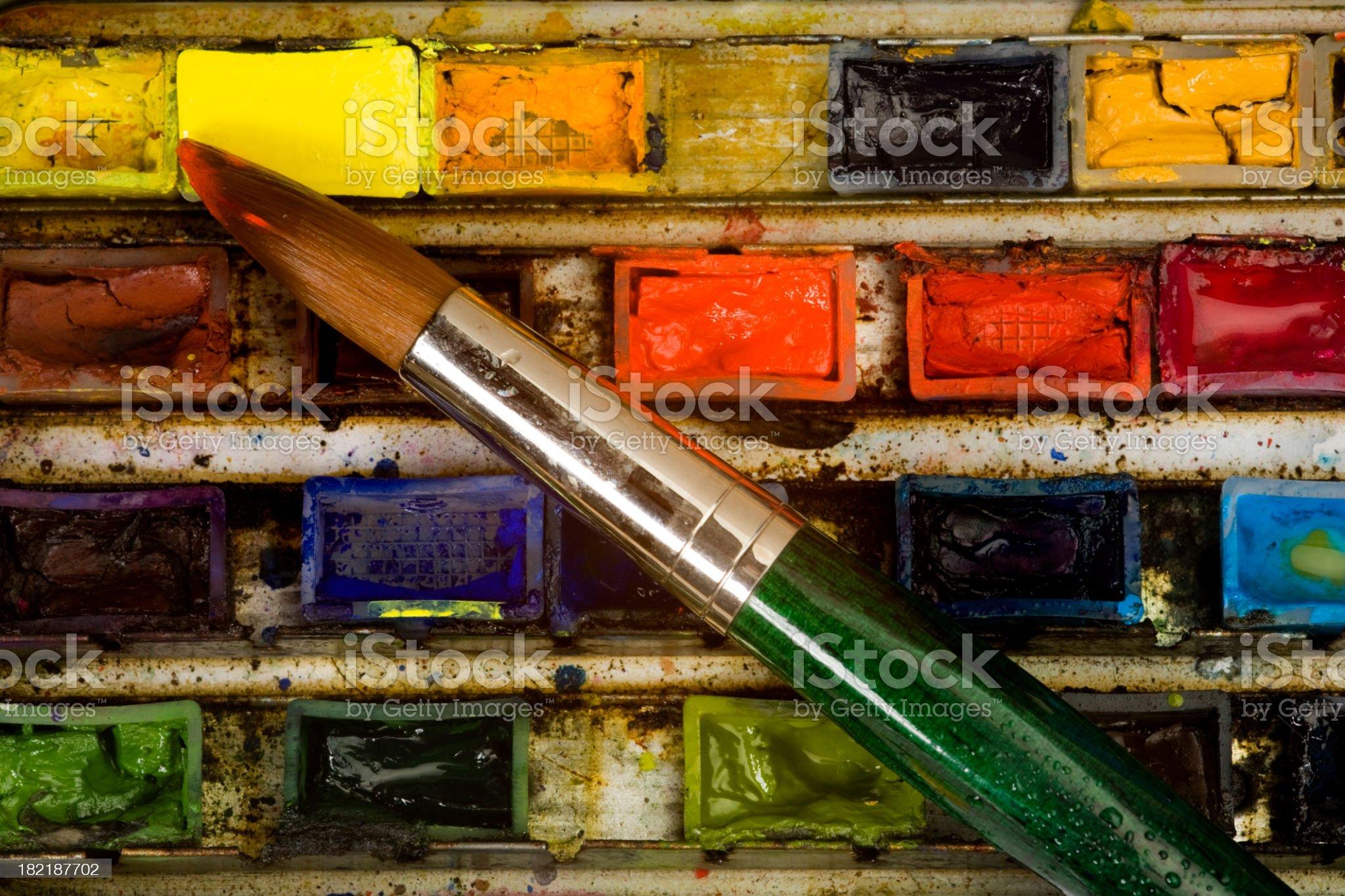 Watercolour palette royalty-free stock photo