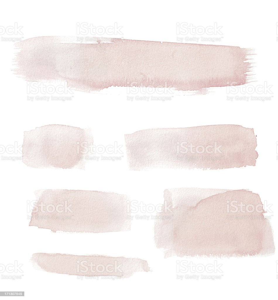 Watercolour Pink Painted Buttons / Lines stock photo