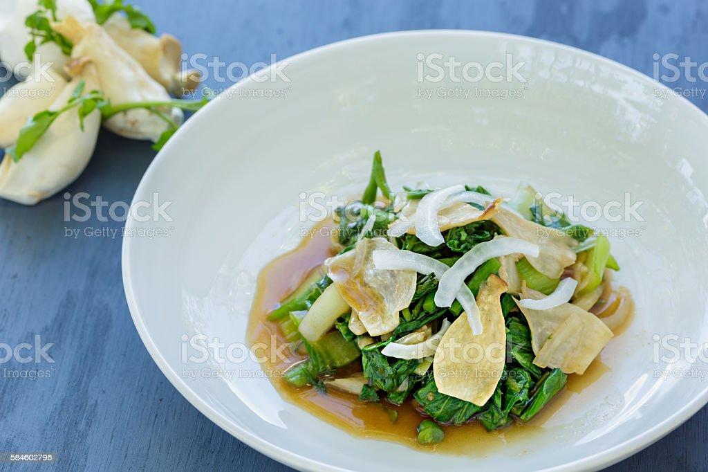 Watercress Bok Choy Salad stock photo