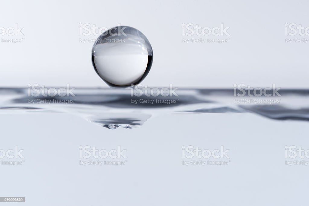 Waterdrop close-up stock photo
