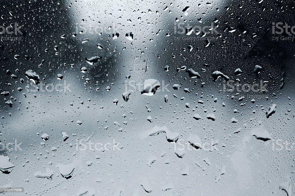 Waterdrops on window royalty-free stock photo
