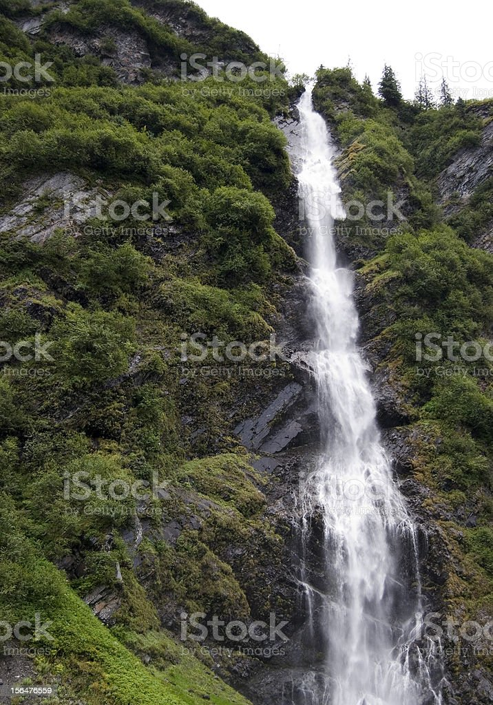 waterfall Alaska style stock photo