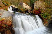 Waterfall and ancien watermills