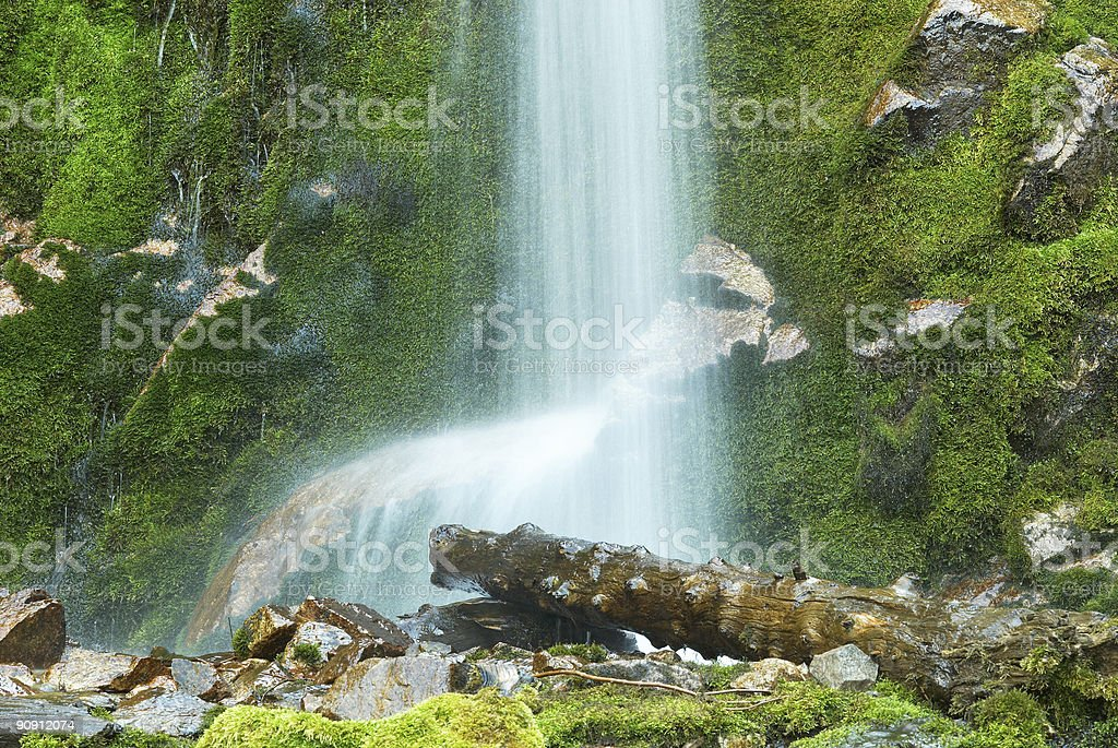 Waterfall and beam royalty-free stock photo