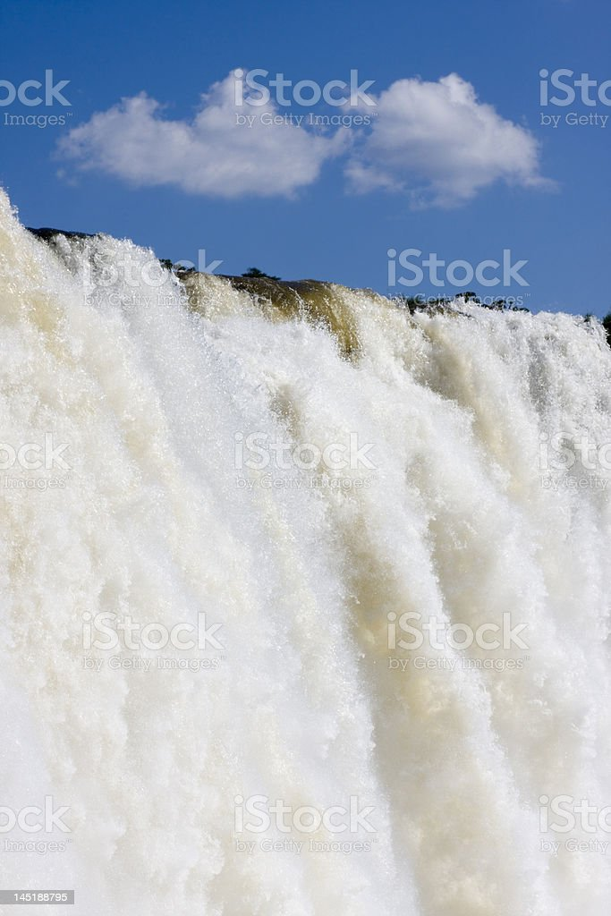 Waterfall and blue sky royalty-free stock photo