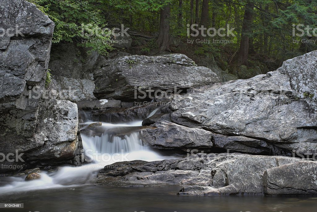 Waterfall and forest royalty-free stock photo