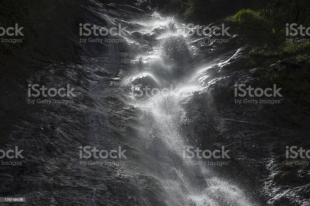 Waterfall and reflection royalty-free stock photo