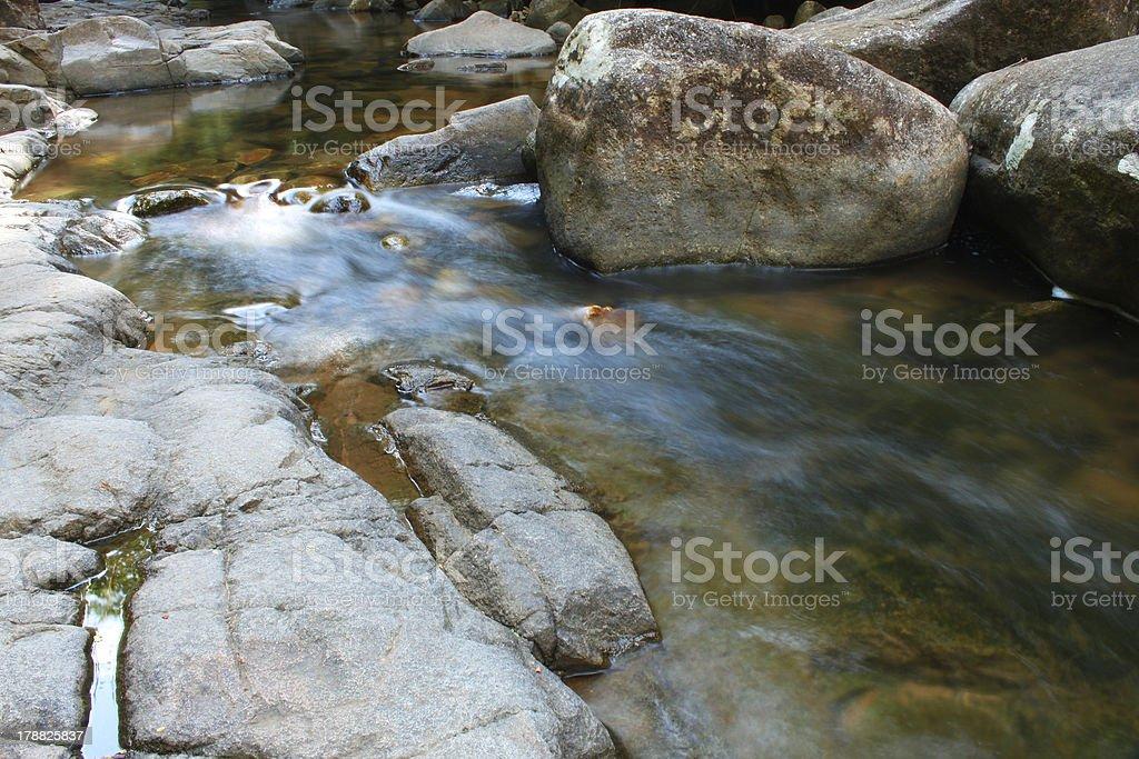waterfall and stream. stock photo