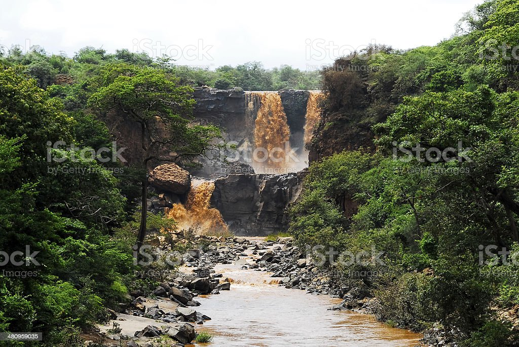 Waterfall at Awash National Park (Ethiopia) stock photo