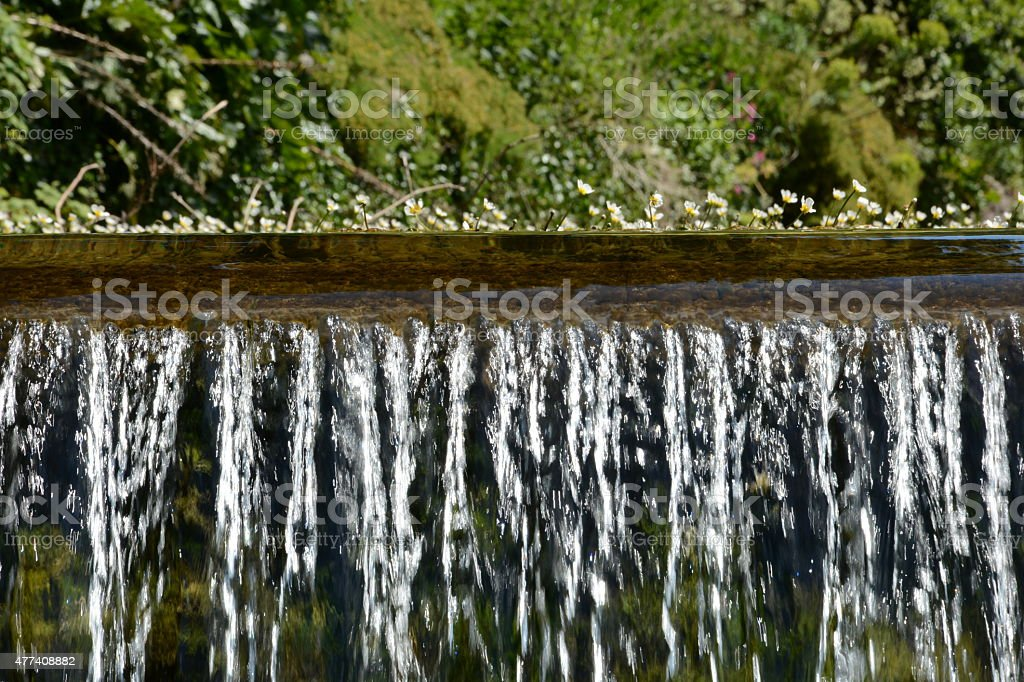 Waterfall at Cheddar Gorge stock photo