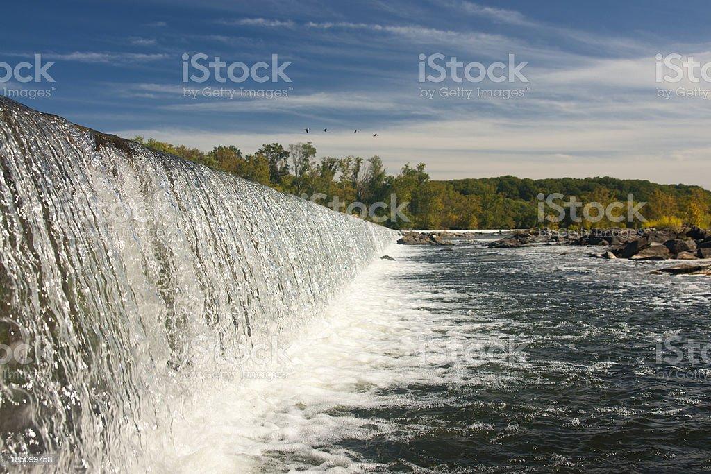 Waterfall at Great Falls Virginia Potomac River stock photo