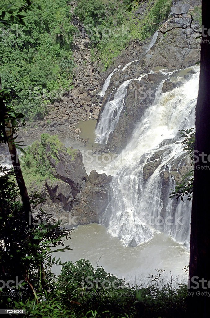 Waterfall At Kuranda royalty-free stock photo