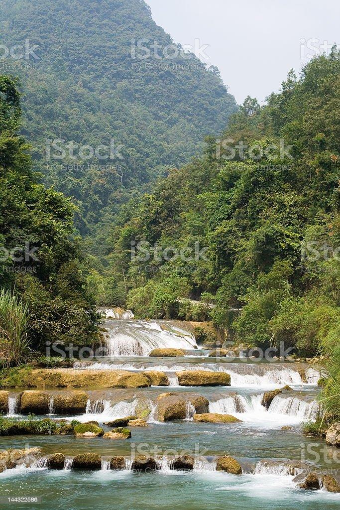 Waterfall at Libo, China stock photo