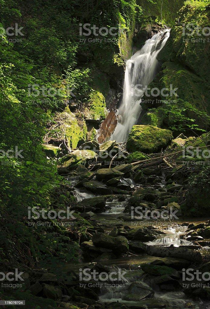 Waterfall at Lillafured royalty-free stock photo