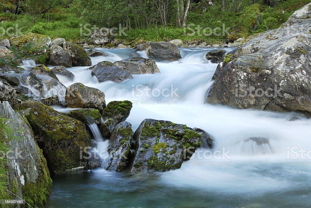Waterfall at long shutter speed. stock photo