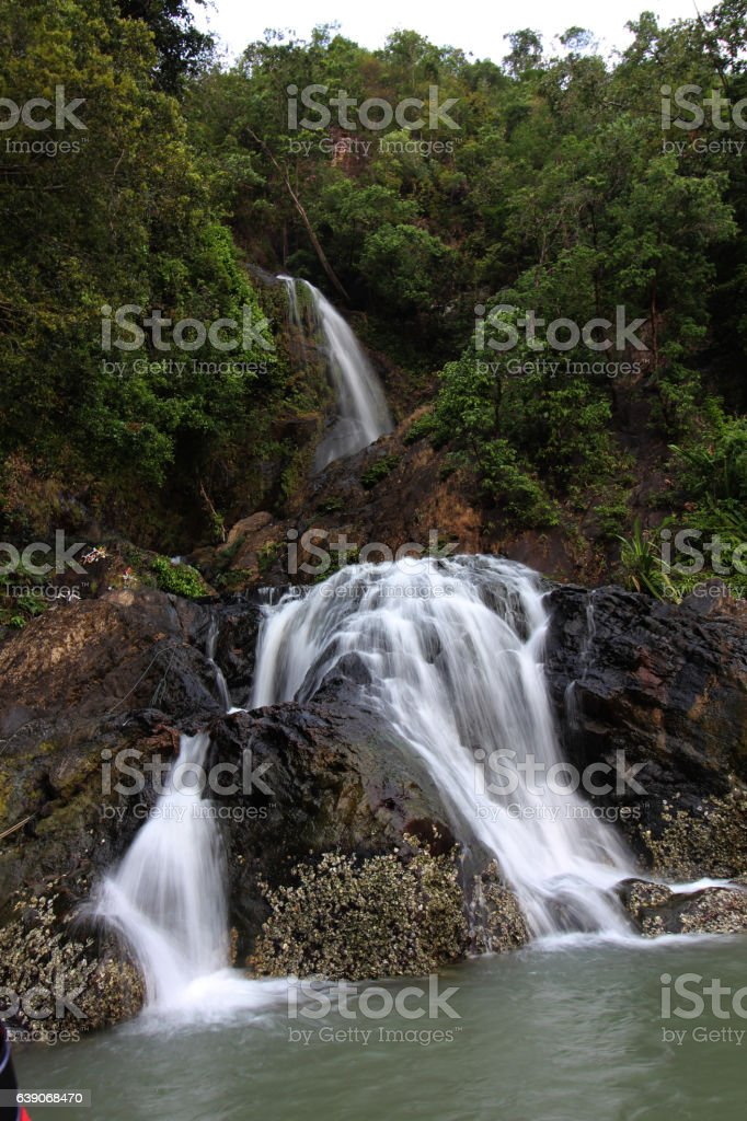 waterfall at Myanmar stock photo