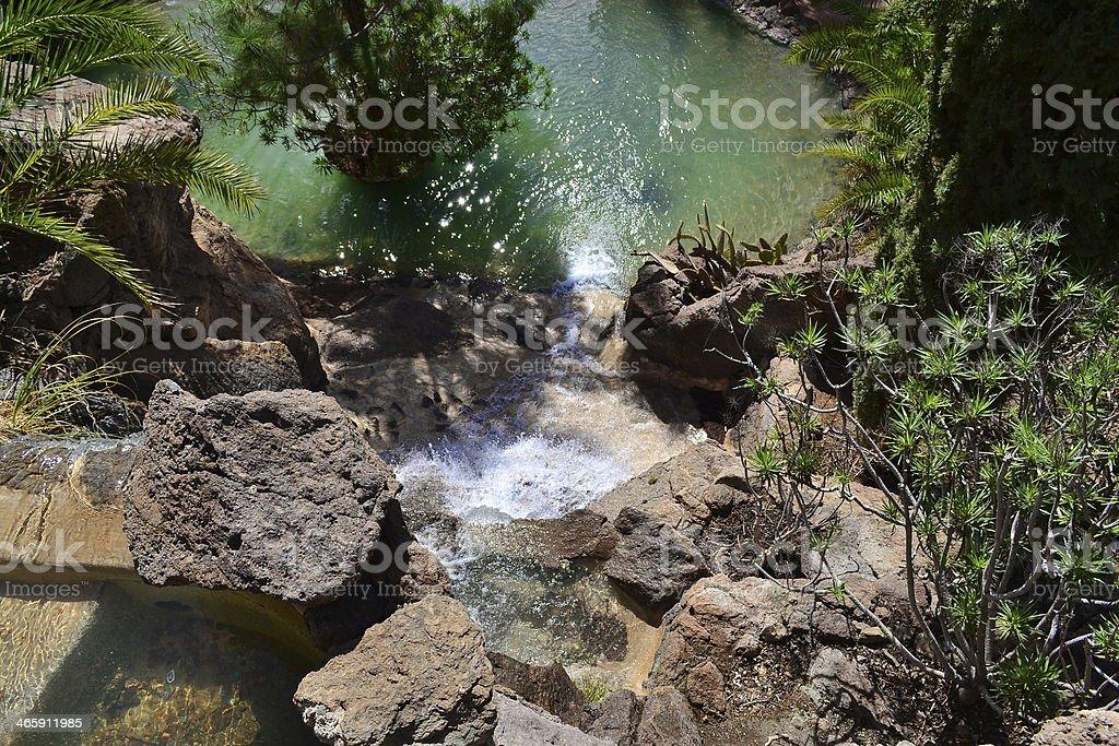 Waterfall at Palmitos stock photo