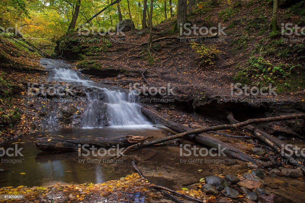 Waterfall at Parfery's Glen stock photo