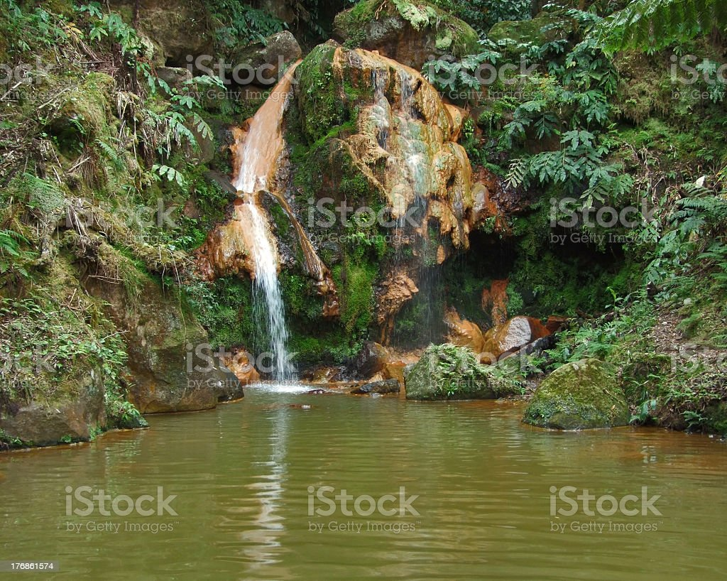 waterfall at Sao Miguel Island stock photo
