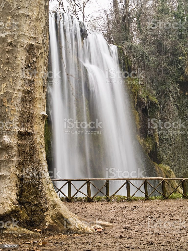 Waterfall at the 'monasterio de piedra', Zaragoza, Spain stock photo