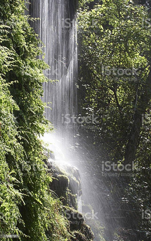 Waterfall at Tonto Natural Bridge State Park stock photo