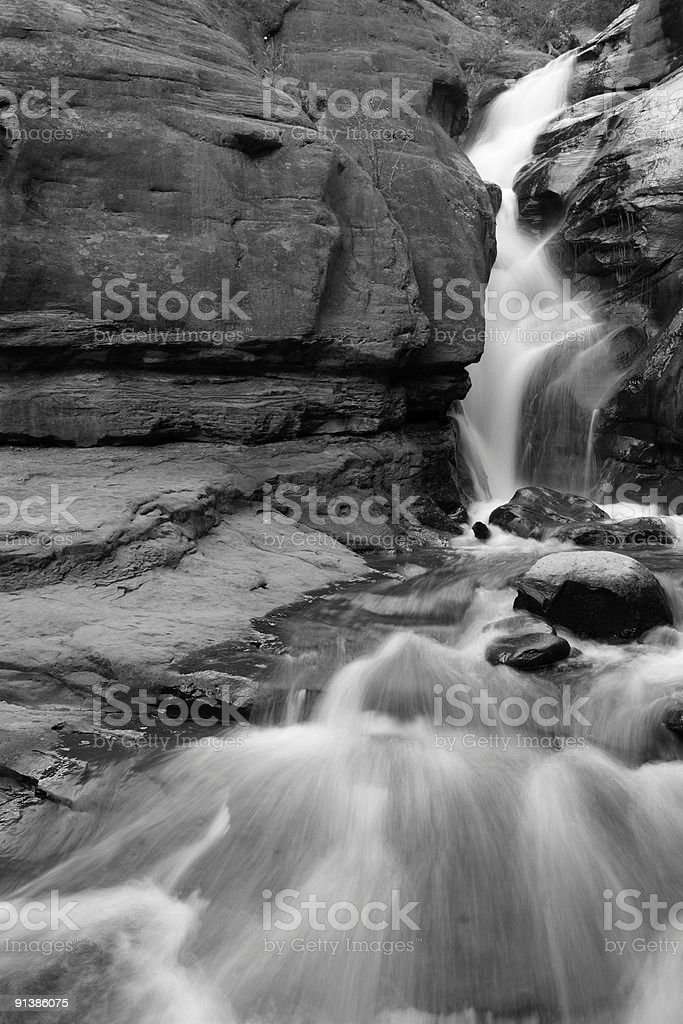 Waterfall at your feet royalty-free stock photo