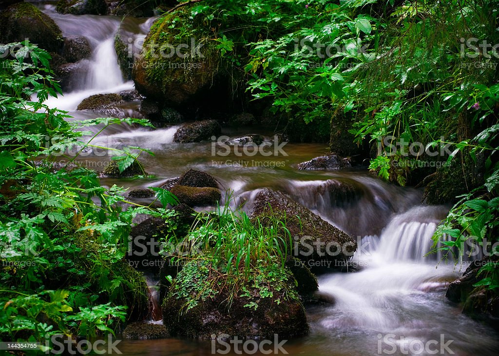 Waterfall Austria stock photo