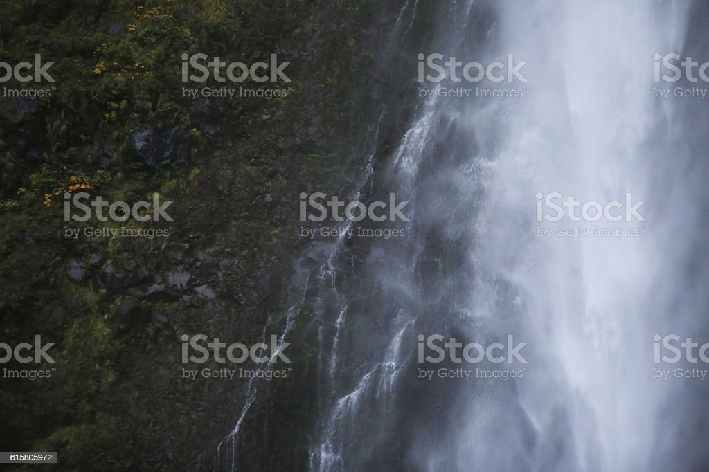 Waterfall Background Close Up stock photo