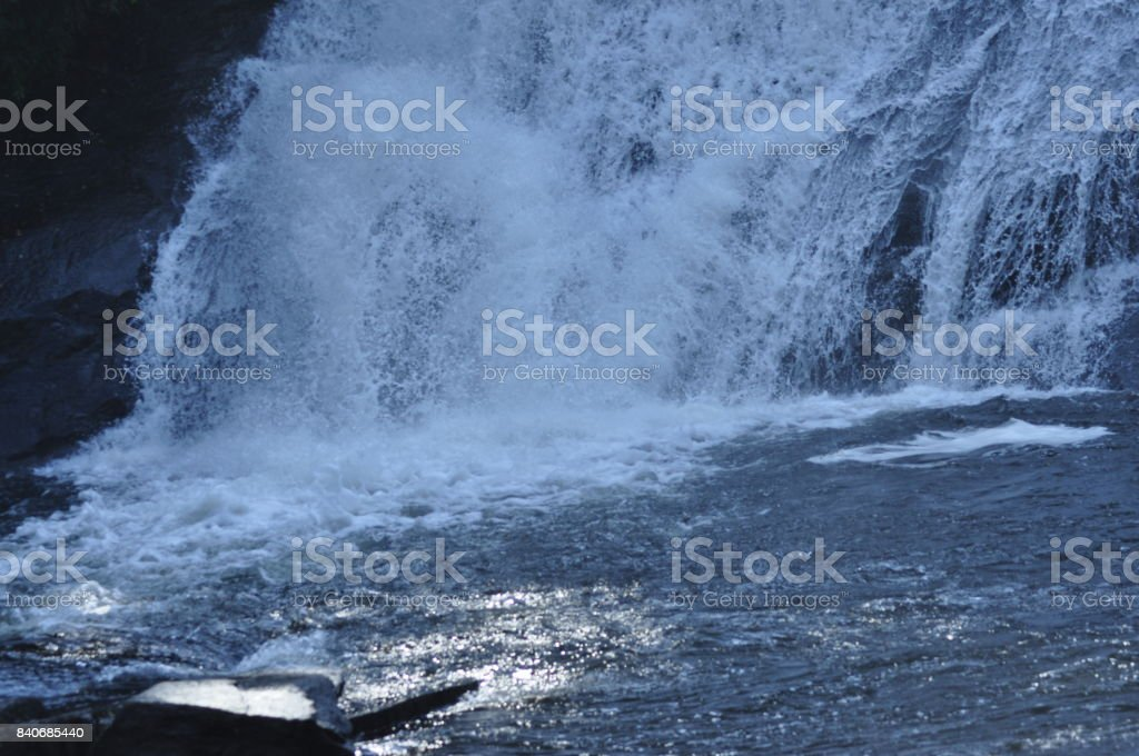 Waterfall Base stock photo