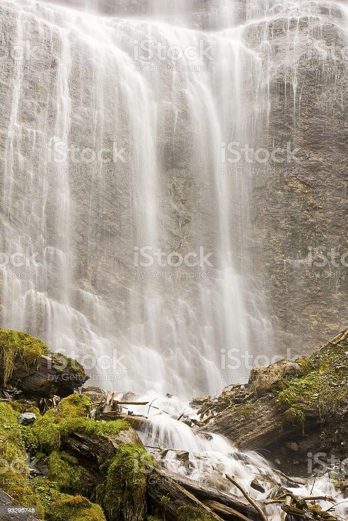 Waterfall base stock photo