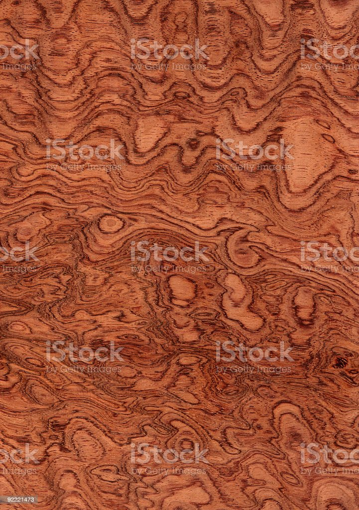 Waterfall Bubinga - Wood Texture Series royalty-free stock photo