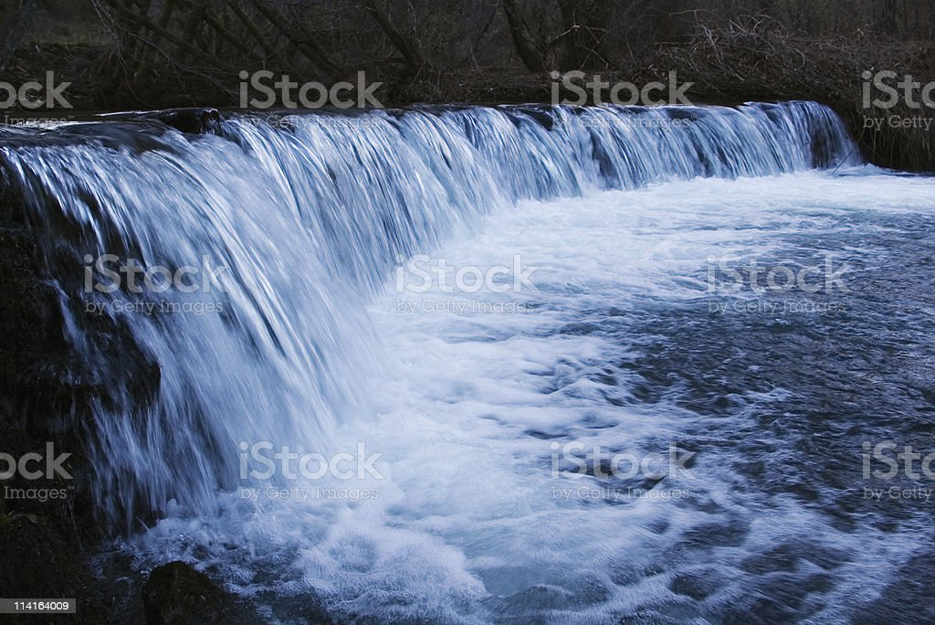 Waterfall by night royalty-free stock photo