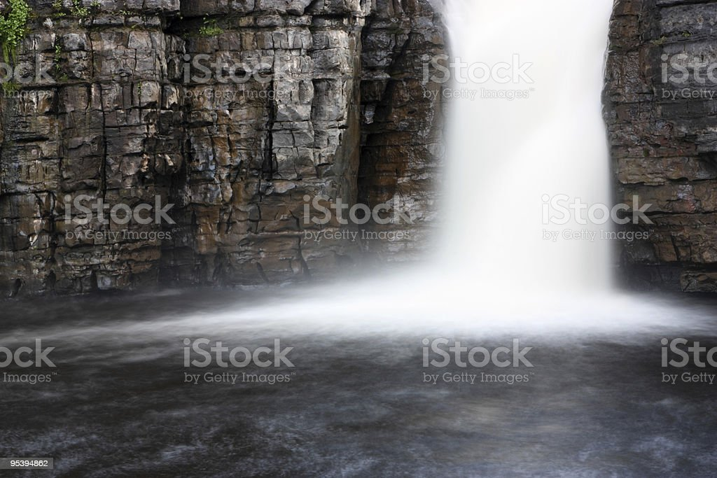 waterfall called high force stock photo