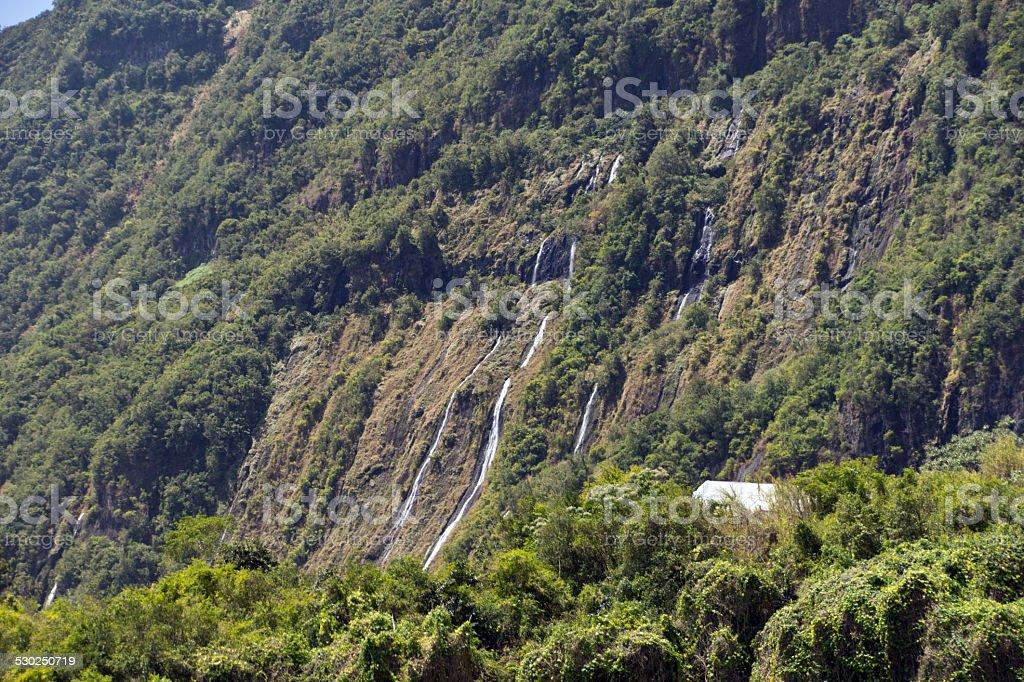 Waterfall - Cascade le Voile de la Mariee stock photo