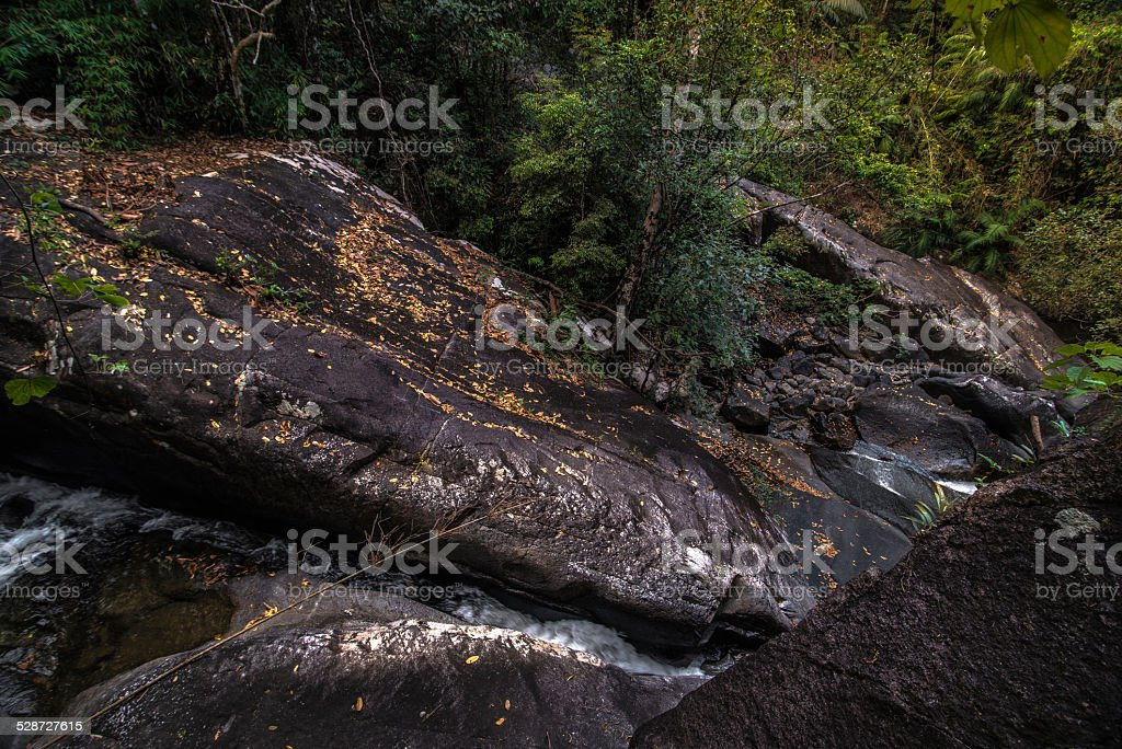 waterfall cliff, rayong ,thailand stock photo