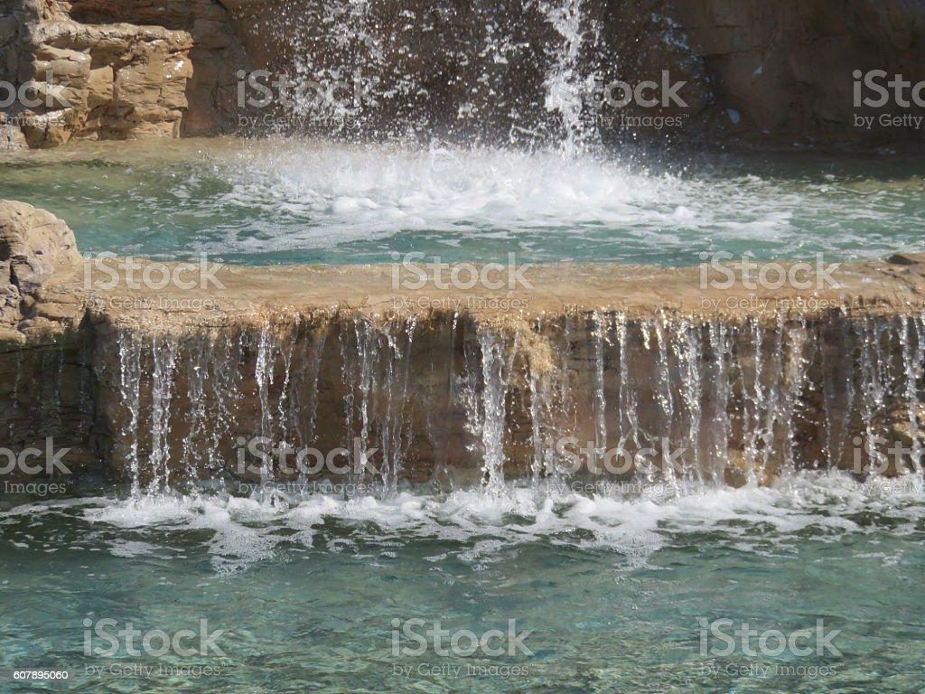 Waterfall close-up stock photo