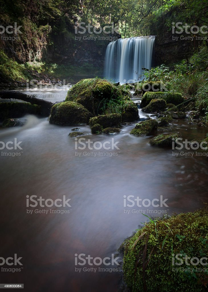 Waterfall Country Sgwd yr Eira stock photo