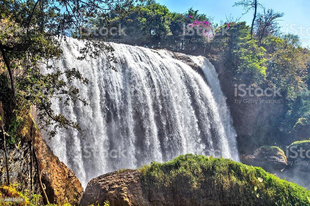 Waterfall Dalat, Vietnam stock photo